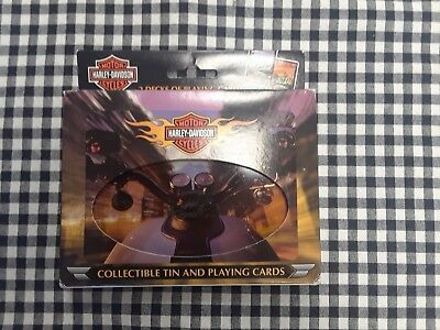 Harley-Davidson Playing Cards w/ Tin-Never Opened!! 2 Decks!!!  MINT!!