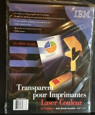 50 Sheets IBM Color Transparency Film With Sensing Stripe 8.5 x 11