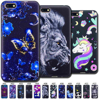 For Huawei Honor 7S/Y5(2018) Embossed TPU Cute Soft Painted Back Skin Case Cover