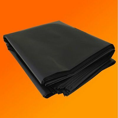 Black Polythene Heavy Duty Plastic Sheeting 4M wide DPM 750 Gauge Garden Sheet