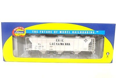 Athearn RTR HO EL Erie Lackawanna PS 2893 Covered Hopper Train Car 89029 READ
