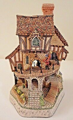 SIGNED David Winter Cottage MAD BARON FOURTHRITE'S FOLLY ~ 1992 Limited Edition