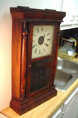Walnut Seth Thomas Ogee Clock W H Davis London , Ontario No Reserve