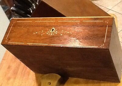 Vintage Antique Portable Wooden Writing Lap Desk Document Box Immaculate !!!