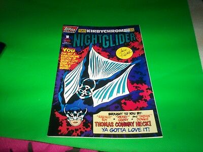 Topps  Comics Nightglider   #1 1993 Mint Condition Highly  Collectible  Fun Rare