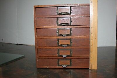 Vintage Weis Oak File Cabinet with Six Drawers