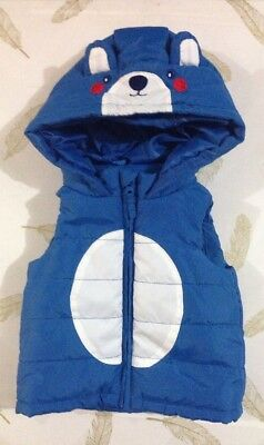 Target Baby Boys Hooded Puffer Vest 0-3 Months 000
