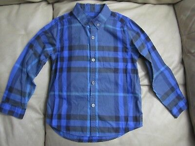 Burberry Baby Boy Blue Flannel SIZE 5Y