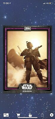 Star Wars Card Trader Illustrated Purple Boba Fett