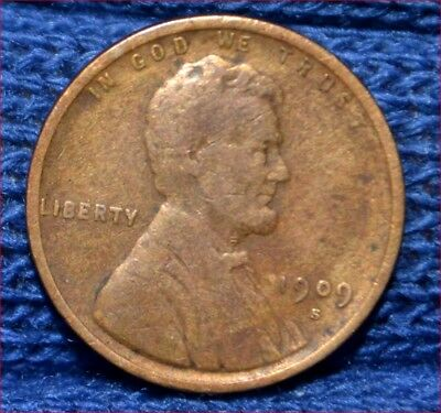 1909-S Lincoln Cent ** FINE to VERY FINE details