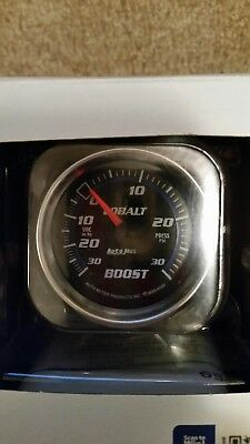 "AutoMeter 6103 Cobalt Mechanical Boost/Vacuum Gauge 30"" HG/30 PSI - 2-1/16"""