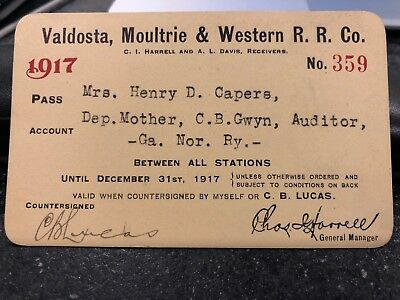 1917 Valdosta, Moultrie & Western Railroad-GEORGIA-Auditor's Mother, Low # 359