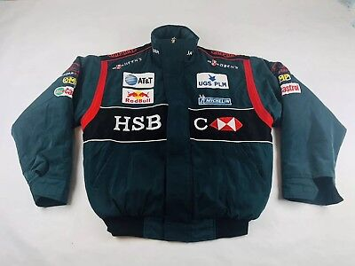 562cc962ae8dfc Jaguar Racing Jacket Coat Zip Up Green Formula One From Ads Mens Size Large
