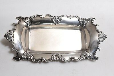 """Vintage Hallmarked Sterling Silver Dish Bowl - 8.5""""inches Long"""