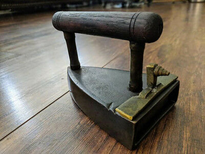Antique Coal Clothes Iron from Europe