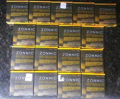 Lot of 17 Zonnic Gum Stop Smoking Aid 2mg each FRUIT 10 pieces each exp 06/18