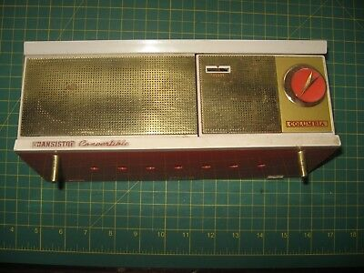 Vintage Columbia Transistor Convertible- Table Top Or Pocket Size Radio Battery