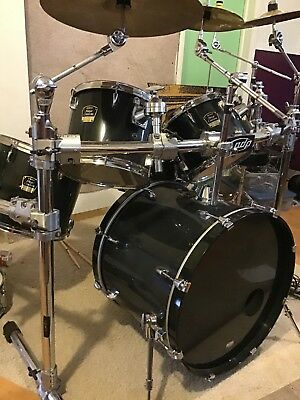 yamaha stage custom birch 6 piece acoustic drum set on pdp rack with accessories. Black Bedroom Furniture Sets. Home Design Ideas