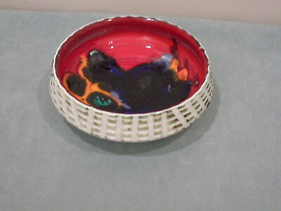 POOLE ART POTTERY CARVED LOOK  FRUIT BOWL  DELPHIS #88 CIRCA LATE 60's