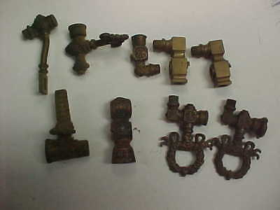 Antique Victorian gas fixture or sconce brass repair parts