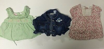 Lot of 3 for Girls - 24 months Blouse - Tops  - Pretty  - 4057