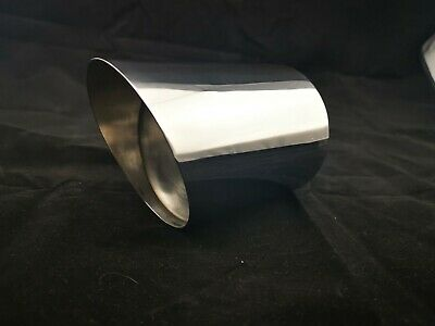End Pipe 3 17/32in x 150 round Sharp Angle Welded Exhaust End Pipe