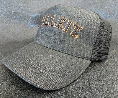 Bulleit Boubon Frontier Whisky - Embroidered Trucker Baseball Cap Charcoal - new