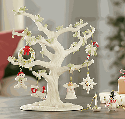 New Lenox Ornament Tree With Christmas Ornaments  9-piece Set
