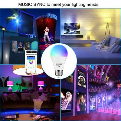 9W E26 RGBW LED Bulbs Dimmable iLUX Bluetooth Smart Phone or Remote Controlled #