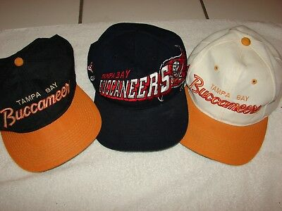 Vintage Tampa Bay Buccaneers  Football Baseball Hats 3 Total