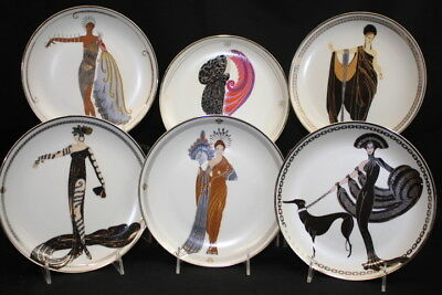 Lot of 6 Vintage House of Erte Franklin Mint Collector's Limited Edition Plates