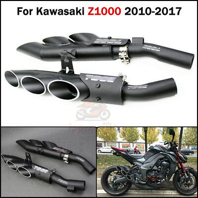Slip On Z1000 Motorcycle Exhaust System Mid Tail Pipe For Kawasaki Z1000 10-2017