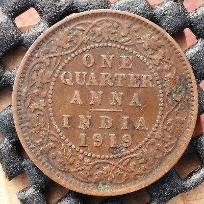 1919 British India 1/4 Anna km# 512  - a great space filler