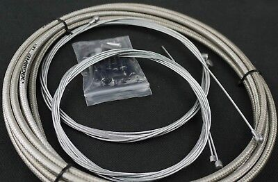 Jagwire Braided Housing Cable Complete Kit Brake Shifter Titanium-Silver Color