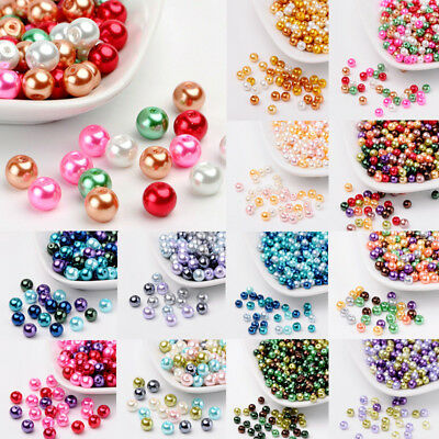 1 Bag Pearlized Glass Pearl Beads Mixed Color 4/6/8mm 100/200/400pc/Bag Hole 1mm