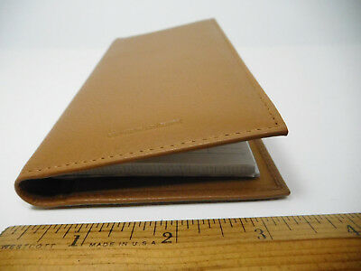 Private Label Lt Brown Leather Padded Checkbook Cover w 2 Part Check Insert#3218
