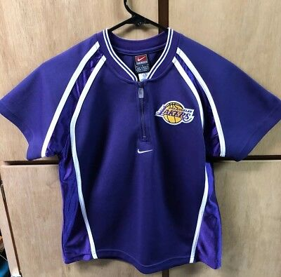 1071155046b Vintage LOS ANGELES LAKERS Team Nike Warm-up, Shooting Shirt, Youth Small 8