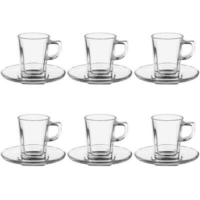 "Paris Prix - Lot De 6 Tasses & Soucoupes ""expresso"" 7,2cl Transparent"