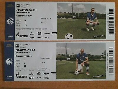 S04 2 Top Tickets FC Schalke 04 vs Hannover 96 am 03.11.2018