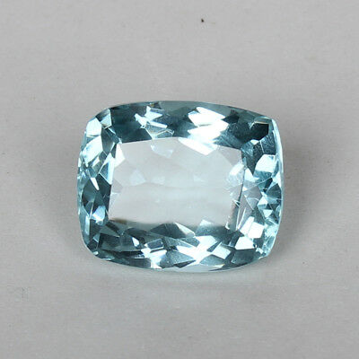 24.70 Ct. Natural Aquamarine Greenish Blue Color Cushion Cut Loose Certified Gem