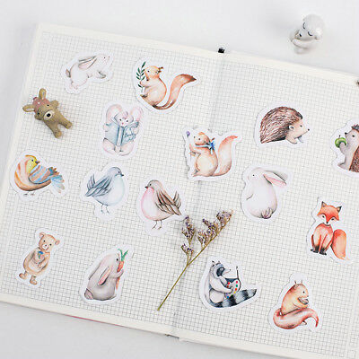 DIY Diary Cute Forest Animals Decortion Adhesive Stickers Scrapbooking 45Pcs/Box