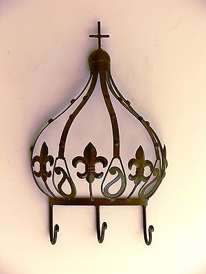 king large crown  coat hanger  NEW wrought iron. (French)
