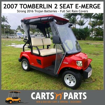 Tomberlin Golf Cart Buggy 2007 Red 2 Seat Strong 2016 Trojan Batteries