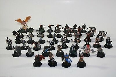 Dungeons & Dragons D&D Miniatures DDM lot of 43 Armored Warriors (C, UC, R)