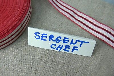 1 m GALONS  SERGENT CHEF POMPIER 26 mm     RANK for FIREFIGHTER SERGEANT
