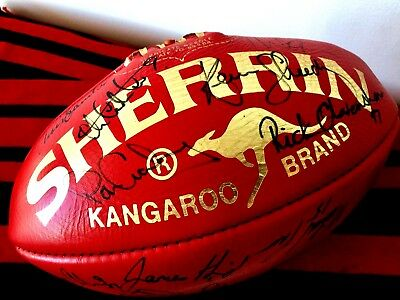 Essendon Football Club - Gold Foil Special Edition Signed Football - Circa 90's