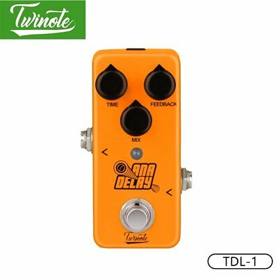 Twinote TDL-1 Guitar Pedal With 800ms Delay Time Effect for Electric Guitar