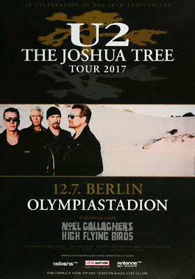 U2 - The Joshus Three , Berlin 2017 | Konzertplakat | Poster