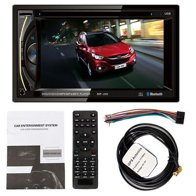 6.2Inch 2DIN HD Bluetooth Car CD DVD Player Stereo FM Radio MP3 Touch Screen GPS