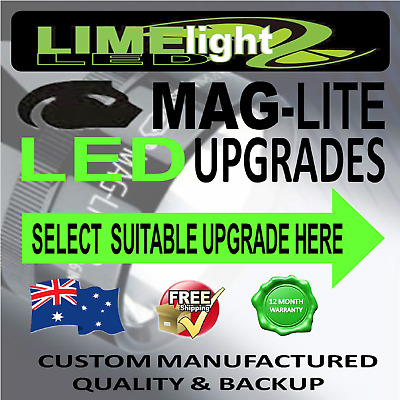 Maglite Led Upgrade Conversion Cree 1W-10W Bulb Globe Flashlight Torch 90-1100Lm